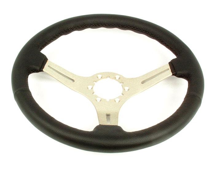 Corvette Steering Wheel Black Leather Steering Brushed 3 Spoke