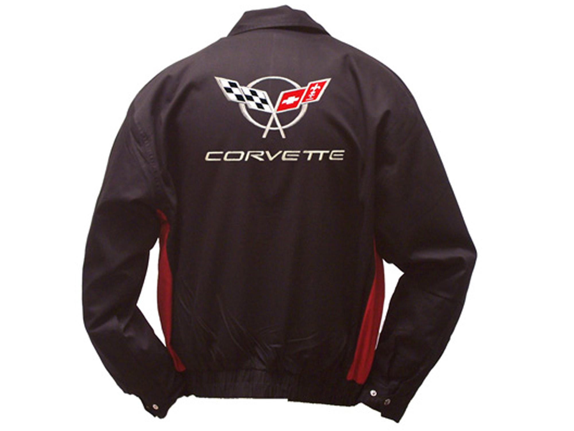 1997-2004-Corvette-Jacket-C5-Emblem-Black-Red-Twill
